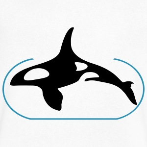 captive orca (try 1 col) T-Shirts - Men's V-Neck T-Shirt by Canvas