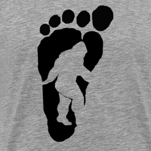 Bigfoot footprint b - Men's Premium T-Shirt