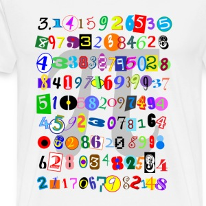 Colorful and Fun Depiction of Pi Calculated - Men's Premium T-Shirt