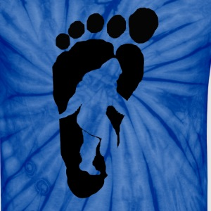 Bigfoot footprints b - Unisex Tie Dye T-Shirt