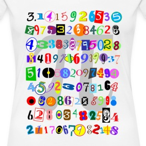 Colorful and Fun Depiction of Pi Calculated - Women's Premium T-Shirt