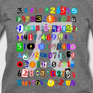 Colorful and Fun Depiction of Pi Calculated - Women's Wideneck Sweatshirt