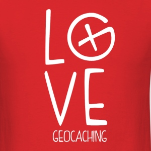 Geocaching Love - Men's T-Shirt
