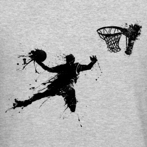 basketballer dunking II Long Sleeve Shirts - Crewneck Sweatshirt