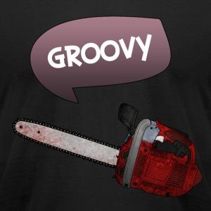 Evil dead - Groovy chainsaw - Men's T-Shirt by American Apparel