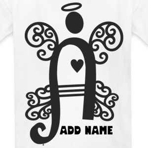 Guardian Angel Monogram Letter A - Kids' T-Shirt