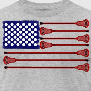 Lacrosse Americasgame T-Shirts - Men's T-Shirt by American Apparel
