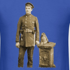 Vintage 19th Century Fireman with Axes T-Shirts - Men's T-Shirt