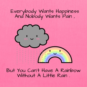 Cute Rainbow Happiness Quote Bags & backpacks - Tote Bag
