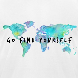 Go Find Yourself - Travel The World! T-Shirts - Men's T-Shirt by American Apparel