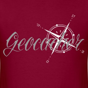 Geocacher with Compass - Men's T-Shirt