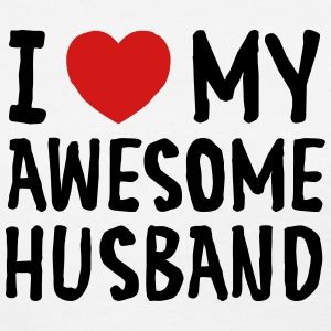 I Love (Heart) My Awesome Husband Women's T-Shirts - Women's T-Shirt