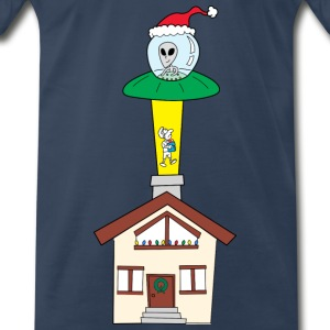 Abduccion Navideña / Holly Alien T-Shirts - Men's Premium T-Shirt