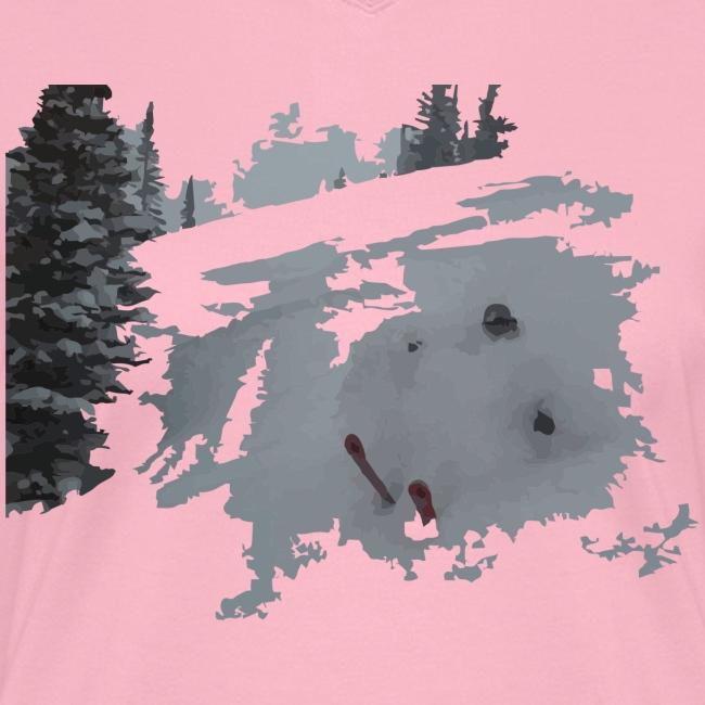 Powder Skier V-Neck T-Shirt - Women's