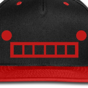 Robot Face Cap (Red) - Snap-back Baseball Cap