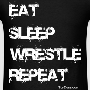 Men's Eat Sleep Wrestle Repeat T-shirt - Men's T-Shirt
