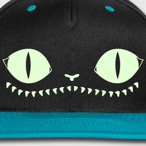 Creepy Cat Cap (LightBlue) - Snap-back Baseball Cap