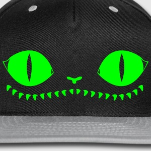 Creepy Cat Hat (Green+Grey) - Snap-back Baseball Cap