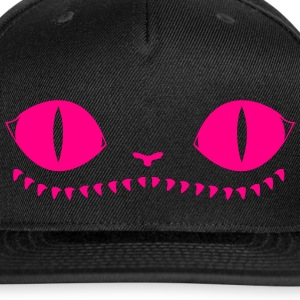 Creepy Cat Cap (Pink+black) - Snap-back Baseball Cap