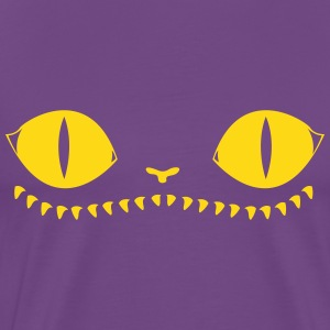 Creepy Cat (Purple+Orange) - Men's Premium T-Shirt
