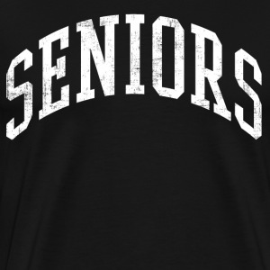 Distressed Seniors T-Shirts - Men's Premium T-Shirt