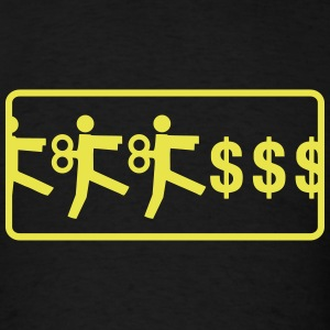 robotic people money grind - Men's T-Shirt