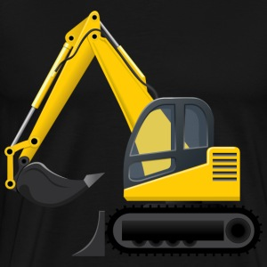 Yellow Cartoon Excavator - Men's Premium T-Shirt