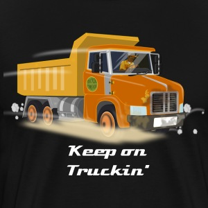 Orange Dump Truck - Men's Premium T-Shirt