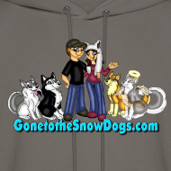 Design ~ Snow Dogs Vlogs - Men's Hoodie