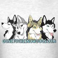 Design ~ Gone to the Snow Dogs - Men's T-Shirt Standard Weight