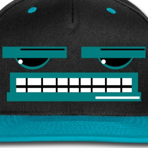 Cheesy Face Cap (Blue) - Snap-back Baseball Cap