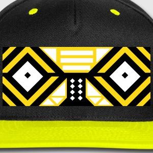 Tribal Mask Cap (Yellow) - Snap-back Baseball Cap