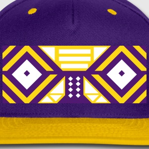 Tribal Mask Cap (Purple+Orange) - Snap-back Baseball Cap