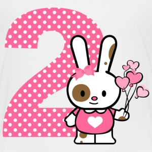 Valentine Bunny 2nd Birthday Baby & Toddler Shirts - Toddler Premium T-Shirt