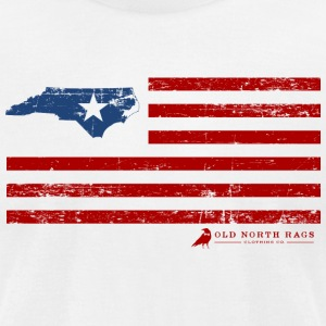 NC USA Flag T-Shirt - Men's T-Shirt by American Apparel