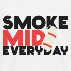 "Smoke Mid Everyday CS:GO ""Red"" T-Shirt"
