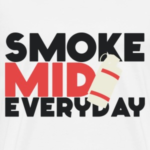 Smoke Mid Everyday CS:GO Red T-Shirt - Men's Premium T-Shirt