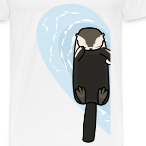 Sea Otters In Love (Left) T-Shirts - Men's Premium T-Shirt