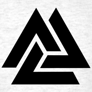 Valknut, Odins Knot, 9 Worlds of Yggdrasil T-Shirts - Men's T-Shirt