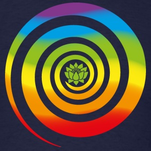 Galactic Spiral, Chakra colors, Lotus, Evolution T-Shirts - Men's T-Shirt