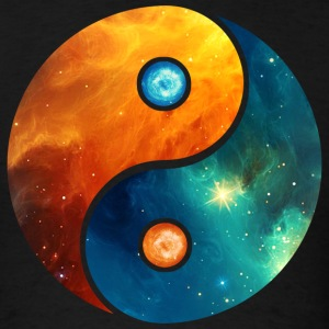 Yin Yang elements, space, cosmos, universe, star T-Shirts - Men's T-Shirt
