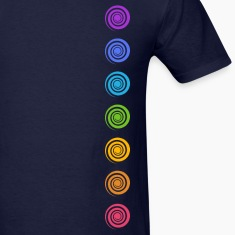 Spiral Chakras, Cosmic Energy Centers, Meditation T-Shirts