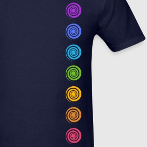 Spiral Chakras, Cosmic Energy Centers, Meditation T-Shirts - Men's T-Shirt
