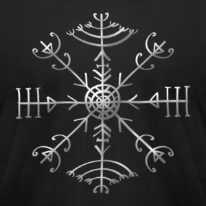 Veldismagn - Fortune & Protection Symbol, Iceland T-Shirts - Men's T-Shirt by American Apparel