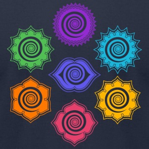 7 Chakras, Evolution, meditation, enlightenment T-Shirts - Men's T-Shirt by American Apparel