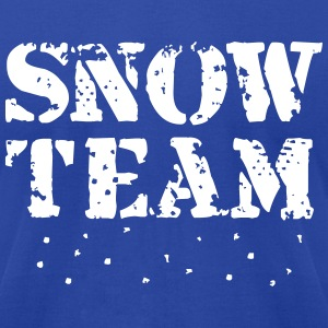 Snow Team, Winter Sports, Skiing, Snowboarding, T-Shirts - Men's T-Shirt by American Apparel