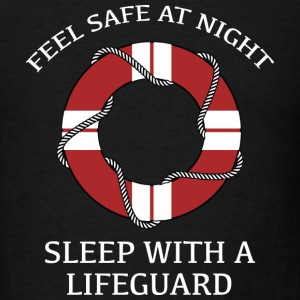 Sleep With A Lifeguard - Men's T-Shirt