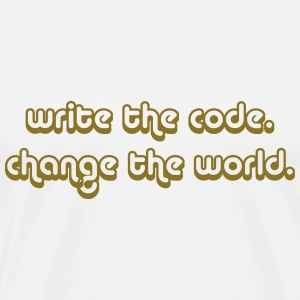 Write the Code. Change The World. T-Shirts - Men's Premium T-Shirt
