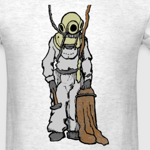 Vintage Diver with Diving Helmet Illustration T-Shirts - Men's T-Shirt