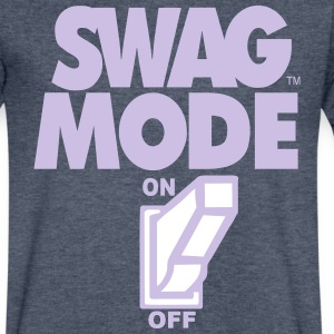 SWAG MODE ON T-Shirts - Men's V-Neck T-Shirt by Canvas
